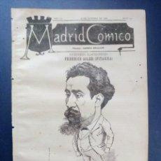 Coleccionismo de Revistas y Periódicos: MADRID CÓMICO - BARCELONA (APUNTES DE VIAJE) 16-OCT-1886 Nº191 -AÑO VI- PORTADA : FEDERICO SOLER . Lote 179133642