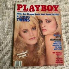 Coleccionismo de Revistas y Periódicos: PLAYBOY SEPTEMBER 1989 PLAYMATE TWINS ( EDICIÓN AMERICANA ). Lote 179183901