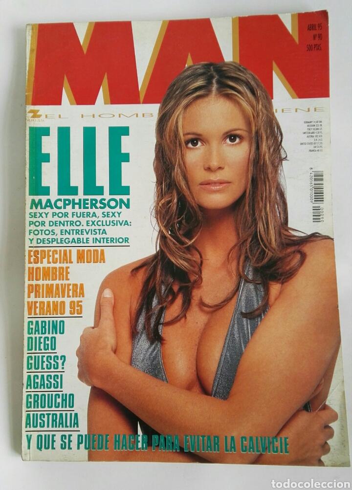 REVISTA MAN N 90 ELLE MACPHERSON GABINO DIEGO (Coleccionismo - Revistas y Periódicos Modernos (a partir de 1.940) - Otros)