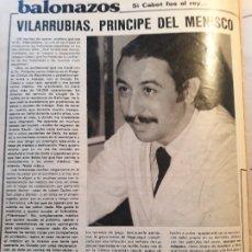 Coleccionismo de Revistas y Periódicos: INFORMACION DEL DOCTOR VILARRUBIAS , PRINCIPE DEL MENISCO - HOJA REVISTA AÑO 1981. Lote 179226412