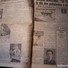 Coleccionismo de Revistas y Periódicos: LA PERRA ZAIDA CAPTURA A UN PELIGROSO DELINCUENTE EN MADRID - DOS PAGINAS -AÑO 1953. Lote 179232237