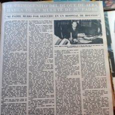 Coleccionismo de Revistas y Periódicos: CARLOS DUQUE DE HUESCAR DE ALBA . Lote 179259603