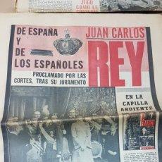 Coleccionismo de Revistas y Periódicos: PERIÓDICO EL PUEBLO 27 NOVIEMBRE 1975 JUAN CARLOS REY DE LOS ESPAÑOLES. Lote 179262858