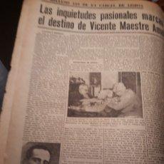 Coleccionismo de Revistas y Periódicos: EL RECLUSO 449 , VICENTE MAESTRE AMAT , DE ELDA A LA CARCEL DE LISBOA . AÑO 1953 -2 HOJAS. Lote 179322447
