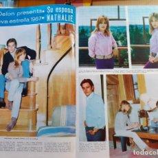 Coleccionismo de Revistas y Periódicos: ALAIN DELON NATHALIE . Lote 179525150