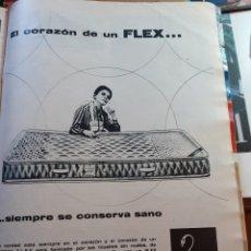 Coleccionismo de Revistas y Periódicos: ANUNCIO COLCHON FLEX. Lote 179525490