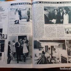 Coleccionismo de Revistas y Periódicos: JANE FONDA ROGER VADIM. Lote 179526717