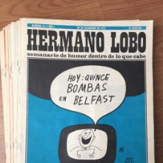 Coleccionismo de Revistas y Periódicos: REVISTA HERMANO LOBO - AÑO 1972 CASI COMPLETO - AÑO II. Lote 179536123