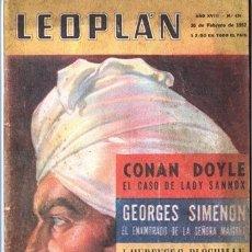 Coleccionismo de Revistas y Periódicos: 1951 LEOPLAN # 424 CONAN DOYLE GEORGES SIMENON GENNE TUNEY INUK EL CAZADOR ARTICO FERDIN´AND MIK. Lote 179558853