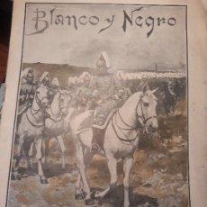 Coleccionismo de Revistas y Periódicos: DRAGONES DE SANTIAGO - DE ENRIQUE ESTEVAN - UNA HOJA , PORTADA DE BLANCO Y NEGRO. Lote 179960292
