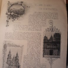 Coleccionismo de Revistas y Periódicos: EL AÑO SANTO COMPOSTELANO - 3 PAGINAS - FIRMA DE EMILIA PARDO BAZAN - AÑO 1897. Lote 179960548