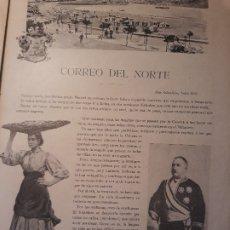 Coleccionismo de Revistas y Periódicos: CORREO DEL NORTE , SAN SEBASTIAN EN JULIO DE 1897 - HOJA . Lote 179960901