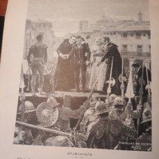 Coleccionismo de Revistas y Periódicos: DECAPITACION DE JUAN LANUZA EN ZARAGOZA AÑO 1591 POR UNCETA - HOJA REVISTA AÑO 1897. Lote 179962748