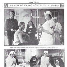 Coleccionismo de Revistas y Periódicos: 1914 HOJA REVISTA I GUERRA MUNDIAL BÉLGICA HERIDOS HOSPITALES ENFERMERAS CRUZ ROJA HERMANAS CARIDAD. Lote 180012450