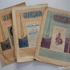 Coleccionismo de Revistas y Periódicos: LOTE 4 REVISTAS SIGMA, REVISTA QUINCENAL TÉCNICO-FINANCIERA Nº 1, 2, 3 Y 9 AÑO 1921 - AUTO-MOTORISMO. Lote 180022862