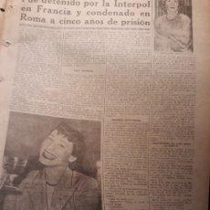 Coleccionismo de Revistas y Periódicos: REPORTAJE SOBRE LA VIDA DEL AVENTURERO JOSÉ FARRÁS , BARBA AZUL - 3 PAGINAS - AÑO 1953 . Lote 180034771