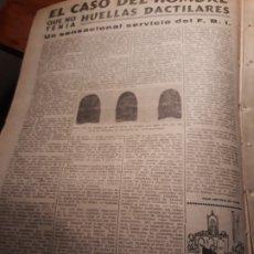 Coleccionismo de Revistas y Periódicos: EL CASO DEL HOMBRE QUE NO TENIA HUELLAS DACTILARES - HOJA PERIODICO DEL 1953. Lote 180034981