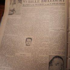 Coleccionismo de Revistas y Periódicos: EL MUNDO DEL ESPIONAJE - SYBILLE DELCOURT MANDÓ A LA MUERTE A SUS CAMARADAS. HOJA AÑO 1953. Lote 180035407
