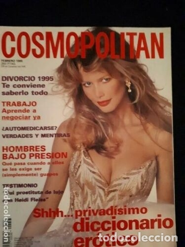 REVISTA COSMOPOLITAN. PORTADA CLAUDIA SCHIFFER. 1995 (Coleccionismo - Revistas y Periódicos Modernos (a partir de 1.940) - Otros)