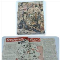 Coleccionismo de Revistas y Periódicos: MUNDO HISPÁNICO NÚMERO DOBLE 28 Y 29, JULIO AGOSTO 1950, DEDICADA A GALICIA, EDITORIAL: EDICIONES IB. Lote 180082918