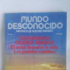 Coleccionismo de Revistas y Periódicos: REVISTA MUNDO DESCONOCIDO N° 28 TIHUANACO. Lote 180142270