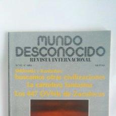 Coleccionismo de Revistas y Periódicos: REVISTA MUNDO DESCONOCIDO N° 42 ZACATECAS. Lote 180142516