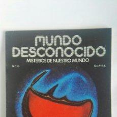 Coleccionismo de Revistas y Periódicos: REVISTA MUNDO DESCONOCIDO N° 38. Lote 180144195