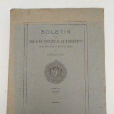 Coleccionismo de Revistas y Periódicos: BOLETÍN COMISIÓN PROVINCIAL DE MONUMENTOS DE ORENSE. TOMO XIV, 1943 - 44. GALICIA.. Lote 180145966