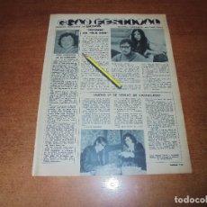 Coleccionismo de Revistas y Periódicos: RETAL 1970: ELS DOS. JOAN MANUEL SERRAT. EVOLUTION (TONY Y DET CON SERRAT). MOCHI. HNOS. CALATRAVA. Lote 180149578