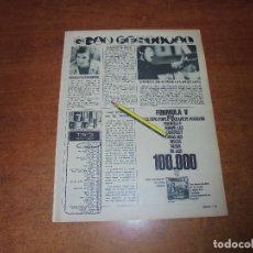 Coleccionismo de Revistas y Periódicos: RETAL 1970: VICTOR MANUEL. RAPHAEL. LOS DIABLOS Nº 1 EN ISRALEL. FÓRMULA V. . Lote 180149595