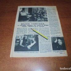 Coleccionismo de Revistas y Periódicos: RETAL 1970: SILVIA TORTOSA, LA CÉLEBRE MARIPI DE BAJO EL MISMO TECHO.. Lote 180149625