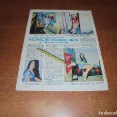 Coleccionismo de Revistas y Periódicos: RETAL 1970: PASO JARDIEL, HIJA DE ALFONSO PASO, ACTRIZ DE COMEDIA.. Lote 180149630