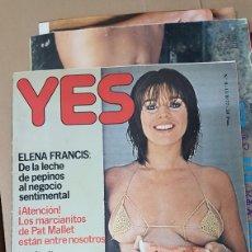 Coleccionismo de Revistas y Periódicos: REVISTA PARA ADULTOS YES 11 OCTUBRE 1977. Lote 180204010