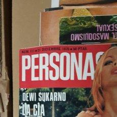 Coleccionismo de Revistas y Periódicos: REVISTA PERSONAS DICIEMBRE 1976. Lote 180204181