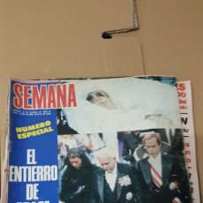 Coleccionismo de Revistas y Periódicos: REVISTA SEMANA ESPECIAL MUERTE GRACE KELLY 2 DE OCTUBRE 1982. Lote 180219317