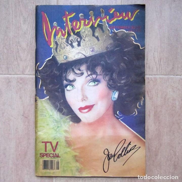 REVISTA INTERVIEW SEPTIEMBRE 1984 Nº 9 JOAN COLLINS TV SPECIAL (Coleccionismo - Revistas y Periódicos Modernos (a partir de 1.940) - Otros)