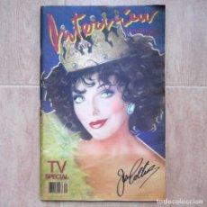 Coleccionismo de Revistas y Periódicos: REVISTA INTERVIEW SEPTIEMBRE 1984 Nº 9 JOAN COLLINS TV SPECIAL. Lote 180242388
