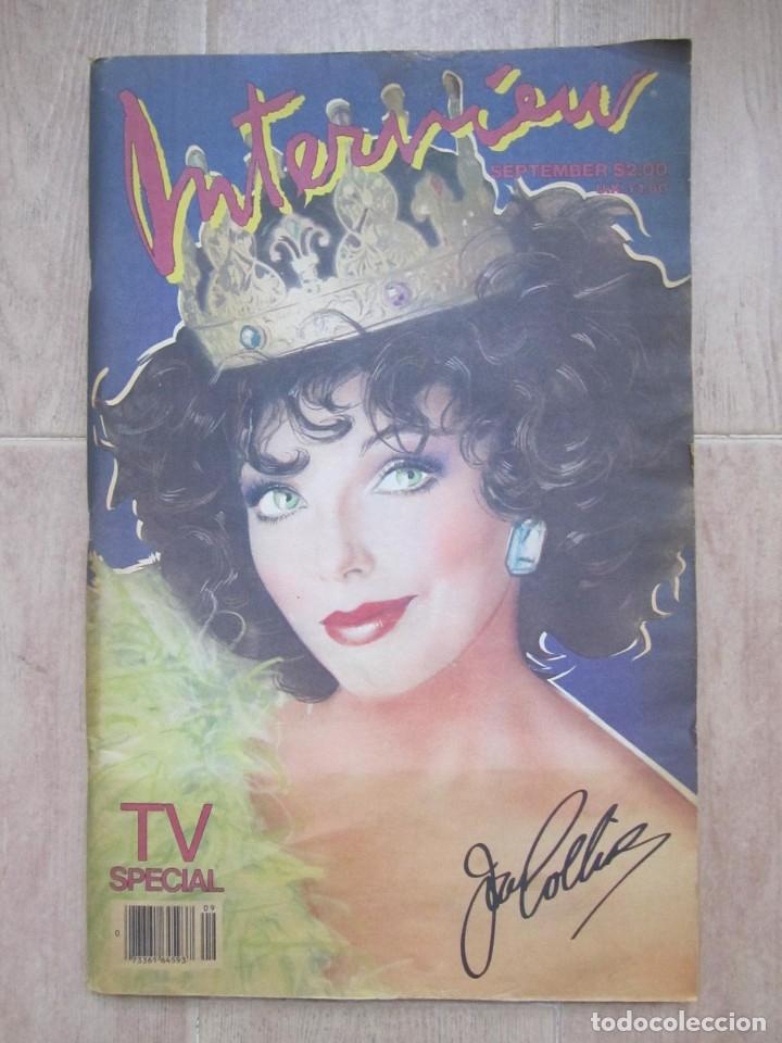Coleccionismo de Revistas y Periódicos: Revista Interview Septiembre 1984 nº 9 Joan Collins TV Special - Foto 2 - 180242388