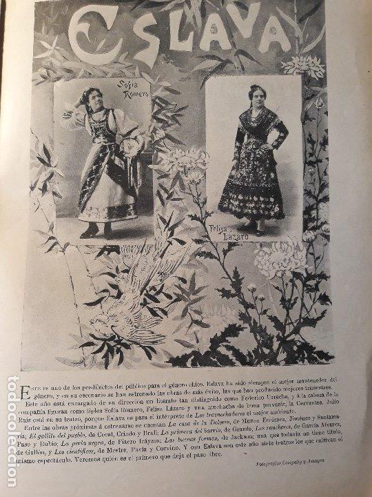 TEMPORADA TEATRAL 1897 -98 - DEL TEATRO ESLAVA Y TEATRO COMICO .- HOJA- AÑO 1897 (Coleccionismo - Revistas y Periódicos Antiguos (hasta 1.939))