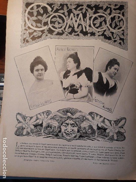 Coleccionismo de Revistas y Periódicos: TEMPORADA TEATRAL 1897 -98 - DEL TEATRO ESLAVA Y TEATRO COMICO .- HOJA- AÑO 1897 - Foto 2 - 180245288