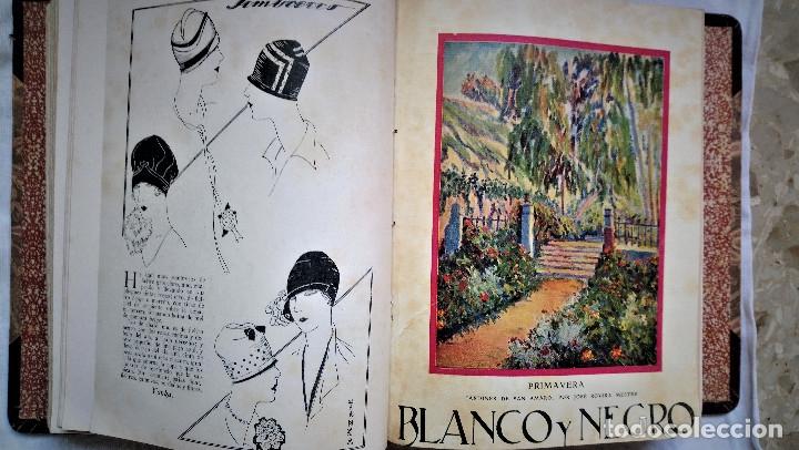 11 REVISTAS BLANCO Y NEGRO DE 1927 ENCUADERNADAS DEL NUMERO 1873 AL 1883 (Coleccionismo - Revistas y Periódicos Antiguos (hasta 1.939))