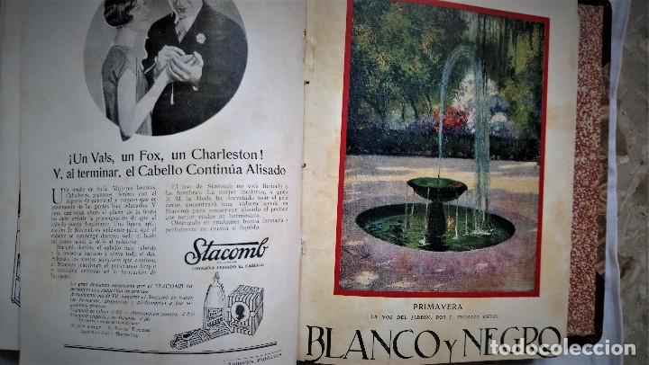 Coleccionismo de Revistas y Periódicos: 11 REVISTAS BLANCO Y NEGRO DE 1927 ENCUADERNADAS DEL NUMERO 1873 AL 1883 - Foto 2 - 180255880