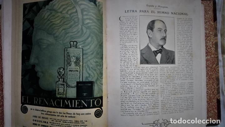 Coleccionismo de Revistas y Periódicos: 11 REVISTAS BLANCO Y NEGRO DE 1927 ENCUADERNADAS DEL NUMERO 1873 AL 1883 - Foto 3 - 180255880