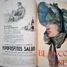 Coleccionismo de Revistas y Periódicos: 12 REVISTAS BLANCO Y NEGRO 1926 ENCUADERNADAS NUMEROS 1834 AL 1845. Lote 180259756