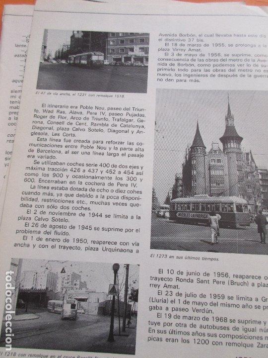 Coleccionismo de Revistas y Periódicos: ARTICULO 1979 - TRANVIAS DE VALENCIA - 4 PAG. - PCC TRANVIA 2 PAG - LINEA 47 BARCELONA TRANVIA RENFE - Foto 2 - 180260208