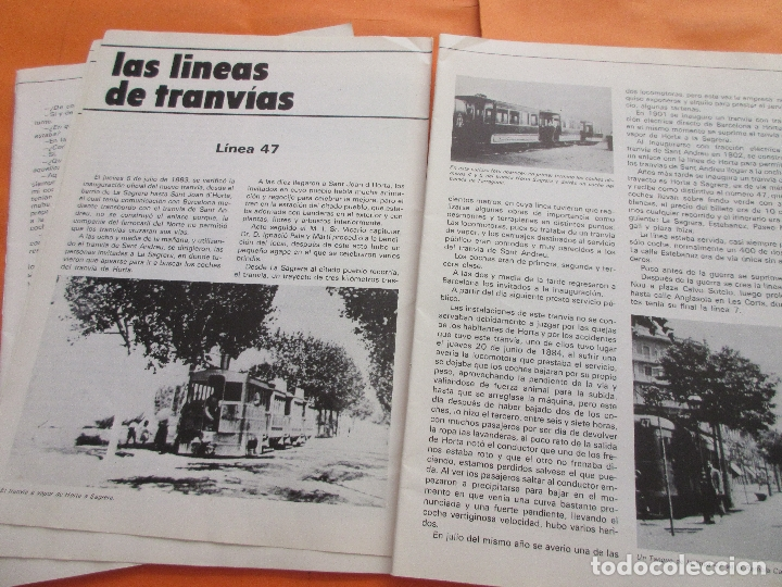 Coleccionismo de Revistas y Periódicos: ARTICULO 1979 - TRANVIAS DE VALENCIA - 4 PAG. - PCC TRANVIA 2 PAG - LINEA 47 BARCELONA TRANVIA RENFE - Foto 3 - 180260208