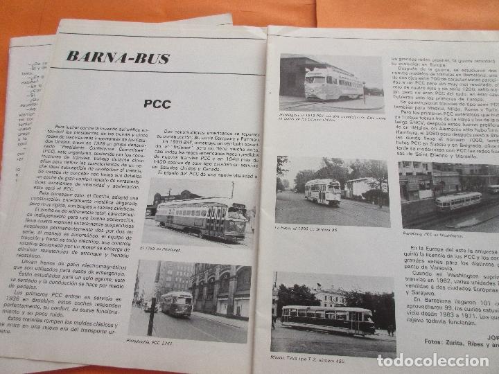 Coleccionismo de Revistas y Periódicos: ARTICULO 1979 - TRANVIAS DE VALENCIA - 4 PAG. - PCC TRANVIA 2 PAG - LINEA 47 BARCELONA TRANVIA RENFE - Foto 4 - 180260208