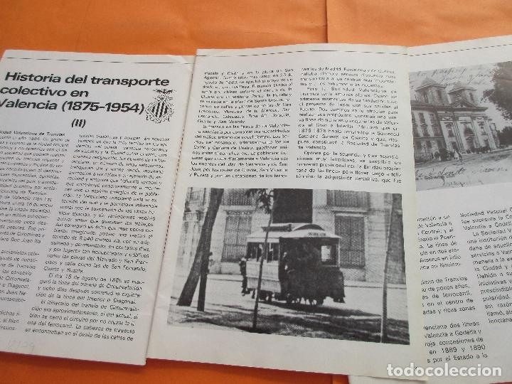 ARTICULO 1979 - TRANVIAS DE VALENCIA - 4 PAG. - PCC TRANVIA 2 PAG - LINEA 47 BARCELONA TRANVIA RENFE (Coleccionismo - Revistas y Periódicos Modernos (a partir de 1.940) - Otros)