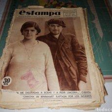 Coleccionismo de Revistas y Periódicos: REVISTA ESTAMPA NÚMERO 360 AÑO 1934.. Lote 180280185