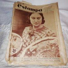 Coleccionismo de Revistas y Periódicos: REVISTA ESTAMPA NÚMERO 359 AÑO 1934.. Lote 180280800